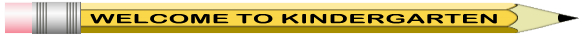 Welcome to kindergarten pencil picture