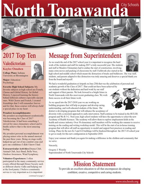 Photo of NT Spirit Graduation Newsletter