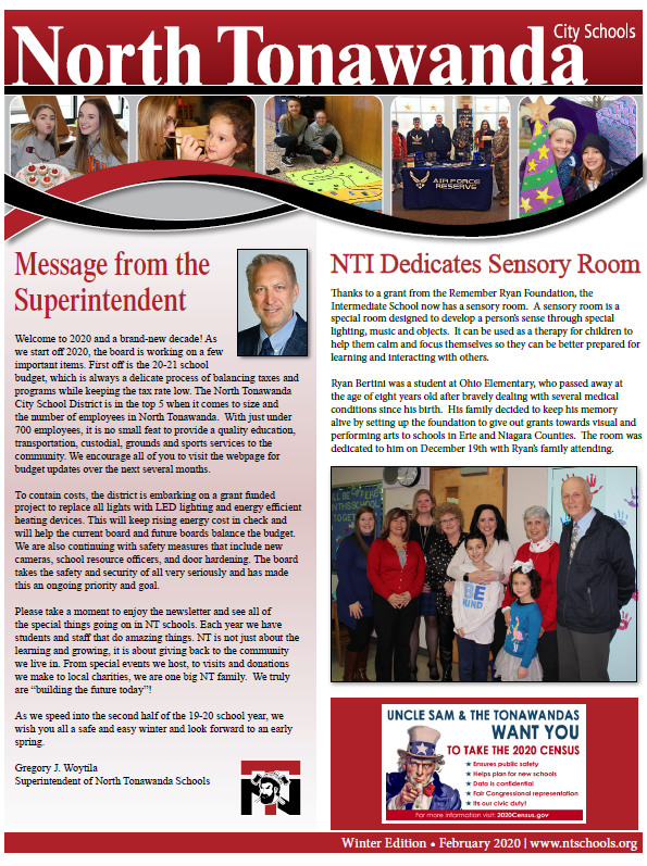 NT Winter 2020 Newsletter screenshot