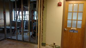 nurses office renovation at Spruce